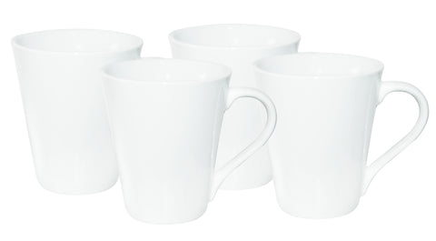 4pc white mug set in gift box (250ml)