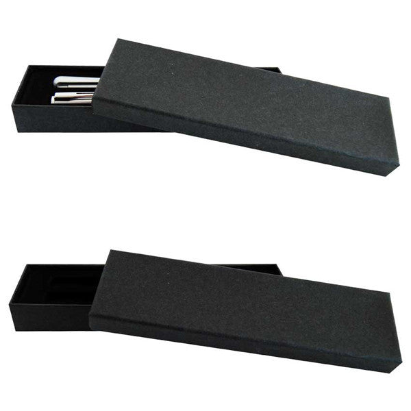 Black double pen box
