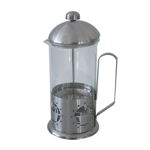 Stainless steel and glass plunger 'coffee cup' design (1L)