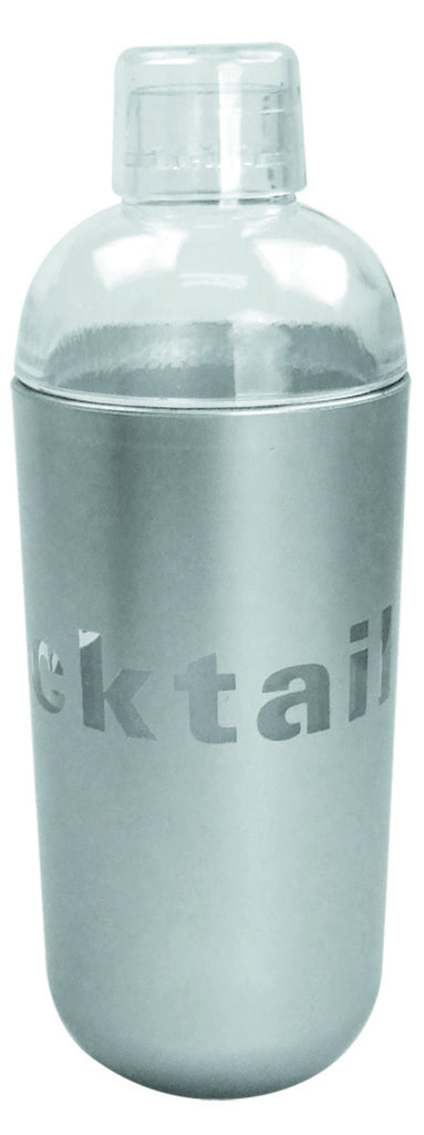 Silver and clear acrylic cocktail shaker