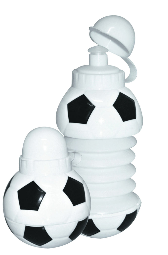 Black and white expandable 'soccer ball' water bottle (400ml)
