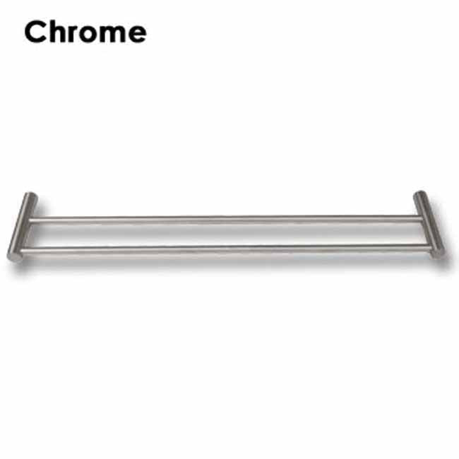 Double wall mounted towel bar