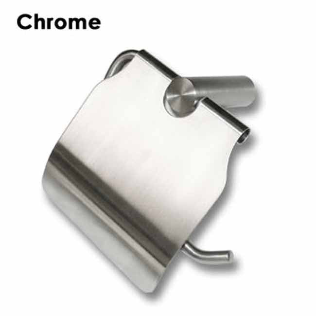 Chrome wall mounted toilet roll holder