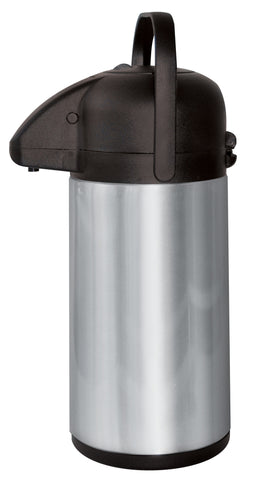 Matt stainless steel and black air pot with handle (1.5L)