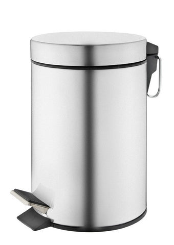 Stainless steel 'mirror finish' pedal bin (3L)