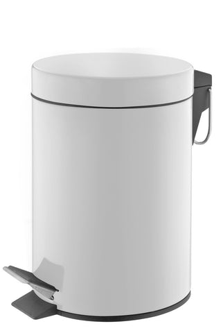 White coated stainless steel pedal bin (3L)