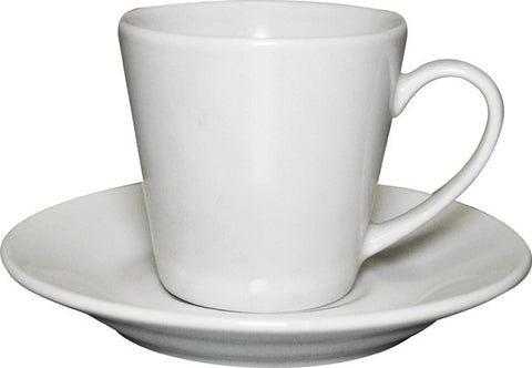 12pc white espresso cup and saucer set bulk packed