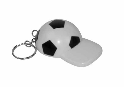 Black and white bottle opener football cap' keyring