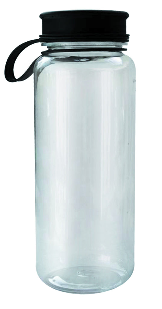 Transparent water bottle with lid (1L)