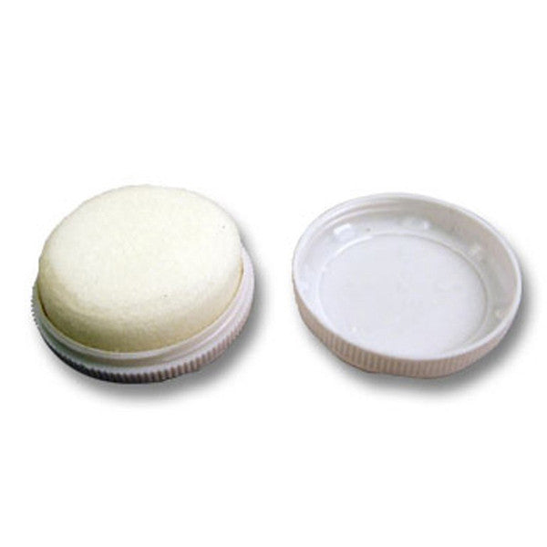 Shoe shine with white case and white sponge (pack of 100)