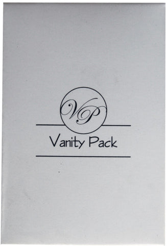 Matt white box with 1 color print 'vanity kit'