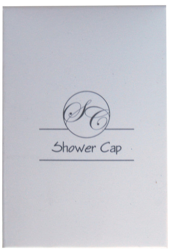 Matt white box with 1 color print 'shower cap'