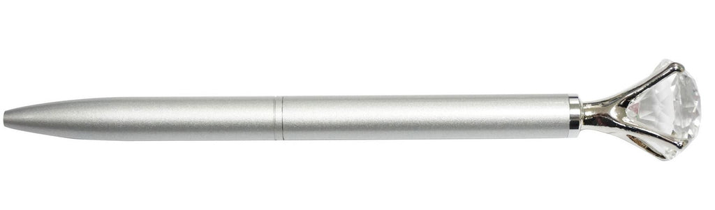 Silver large crystal ballpoint pen in  presentation box (20mm)