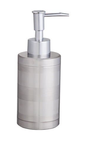 Stainless steel liquid soap dispenser matt and mirror finish with plastic chrome pump