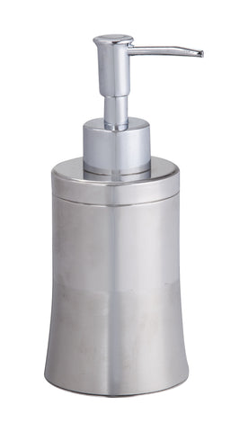 Stainless steel liquid soap dispenser matt and polished finish with plastic chrome pump