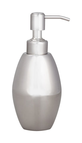 Stainless steel 'mirror' finish liquid soap dispenser with stainless steel pump