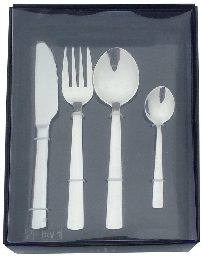 24pc stainless steel 'mirror finish' cutlery set in presentation box