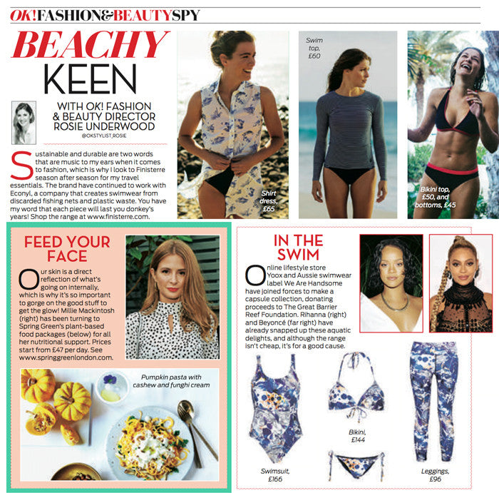 OK magazine featuring Spring Green and Millie Mackintosh