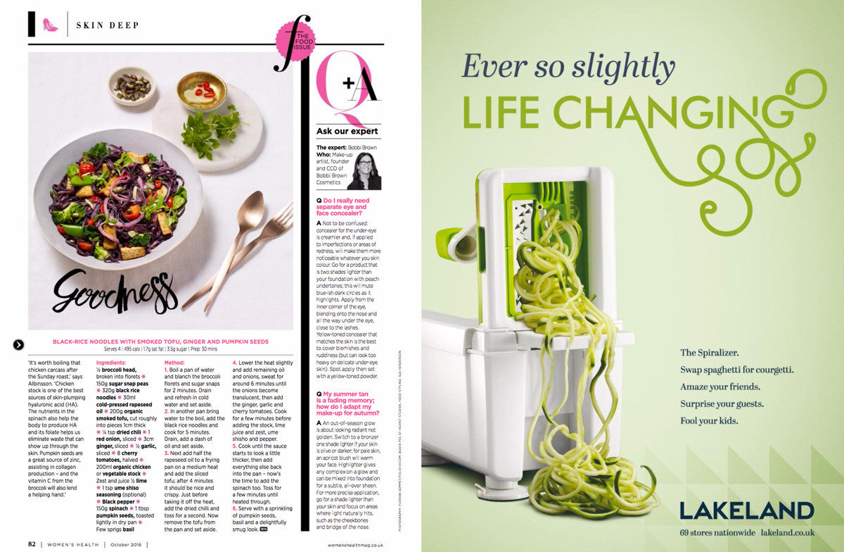 Feed your face by Women's Health featuring Bonnie Stowell, founder of Spring Green