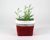 Red Waxed Canvas Mini Fabric Basket, Plant Basket | Madi May Design