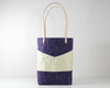Purple Waxed Canvas Tote Bag, Front View | Madi May Design