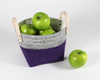 Amethyst Waxed Canvas Fabric Basket