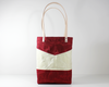Red Waxed Canvas Tote Bag, Front View | Madi May Design