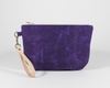 Purple Waxed Canvas Purse, Clutch Wristlet, Front | Madi May Design
