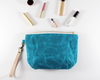 Blue Waxed Canvas Purse with Accessories | Madi May Design