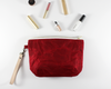 Red Waxed Canvas Purse with Accessories | Madi May Design