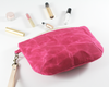 Pink Waxed Canvas Purse, Clutch Wristlet, Handbag, Angled View | Madi May Design