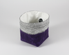 Purple Waxed Canvas Mini Fabric Basket, Side View | Madi May Design