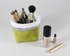 Green Waxed Canvas Mini Fabric Basket, Makeup Brush Holder | Madi May Design