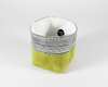Green Waxed Canvas Mini Fabric Basket, Side View | Madi May Design