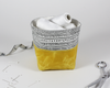 Yellow Waxed Canvas Mini Fabric Basket, Desk Accessories, Organizer | Madi May Design