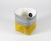 Yellow Waxed Canvas Mini Fabric Basket, Side View | Madi May Design