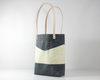 Grey Waxed Canvas Tote Bag, Side View | Madi May Design