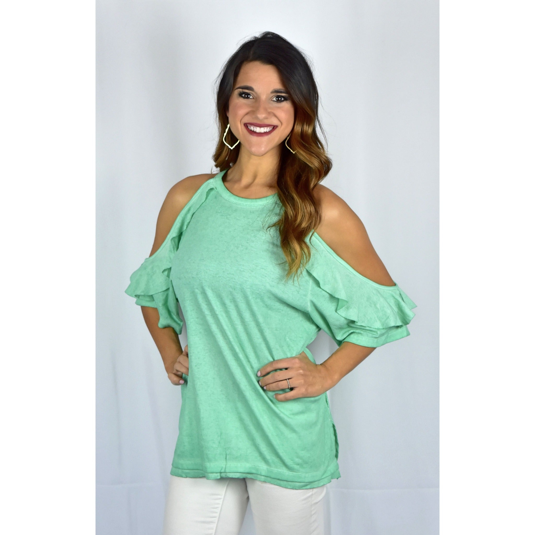 Minty Cold Shoulder