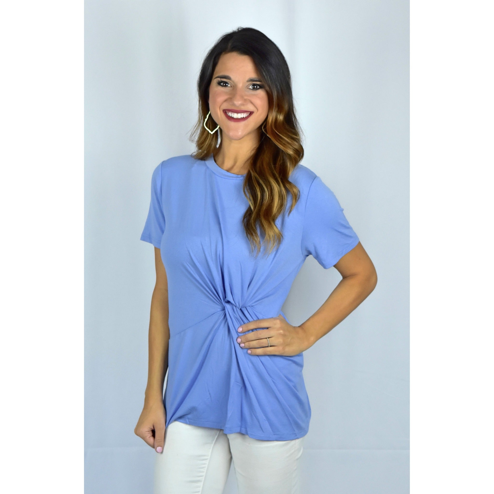 Periwinkle Knot Top