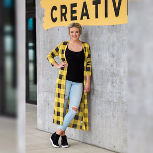 Mustard Plaid Duster