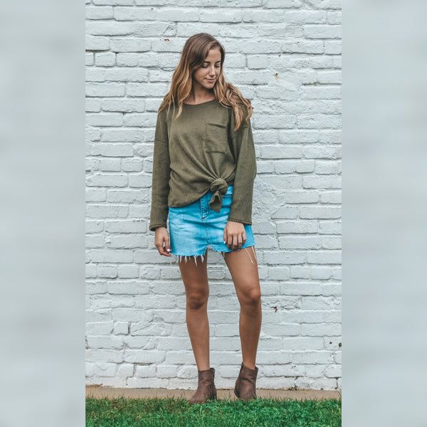 Maddy Olive Sweater
