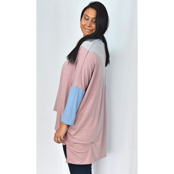 Mauve Color Block Tee