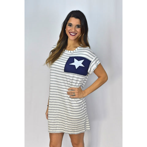 Striped Star Dress/Shirt