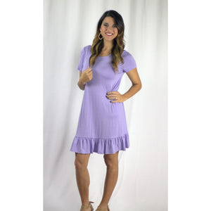 Lavender Ruffle Top/Dress