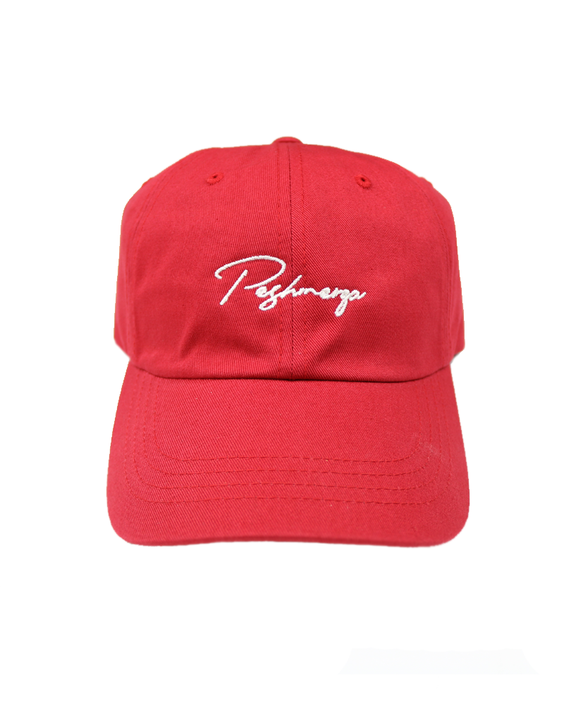 PESHMERGA CURSIVE DAD HAT (CRANBERRY)