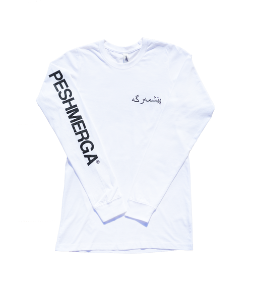 PESHMERGA LOGO LONG SLEEVE (WHITE)