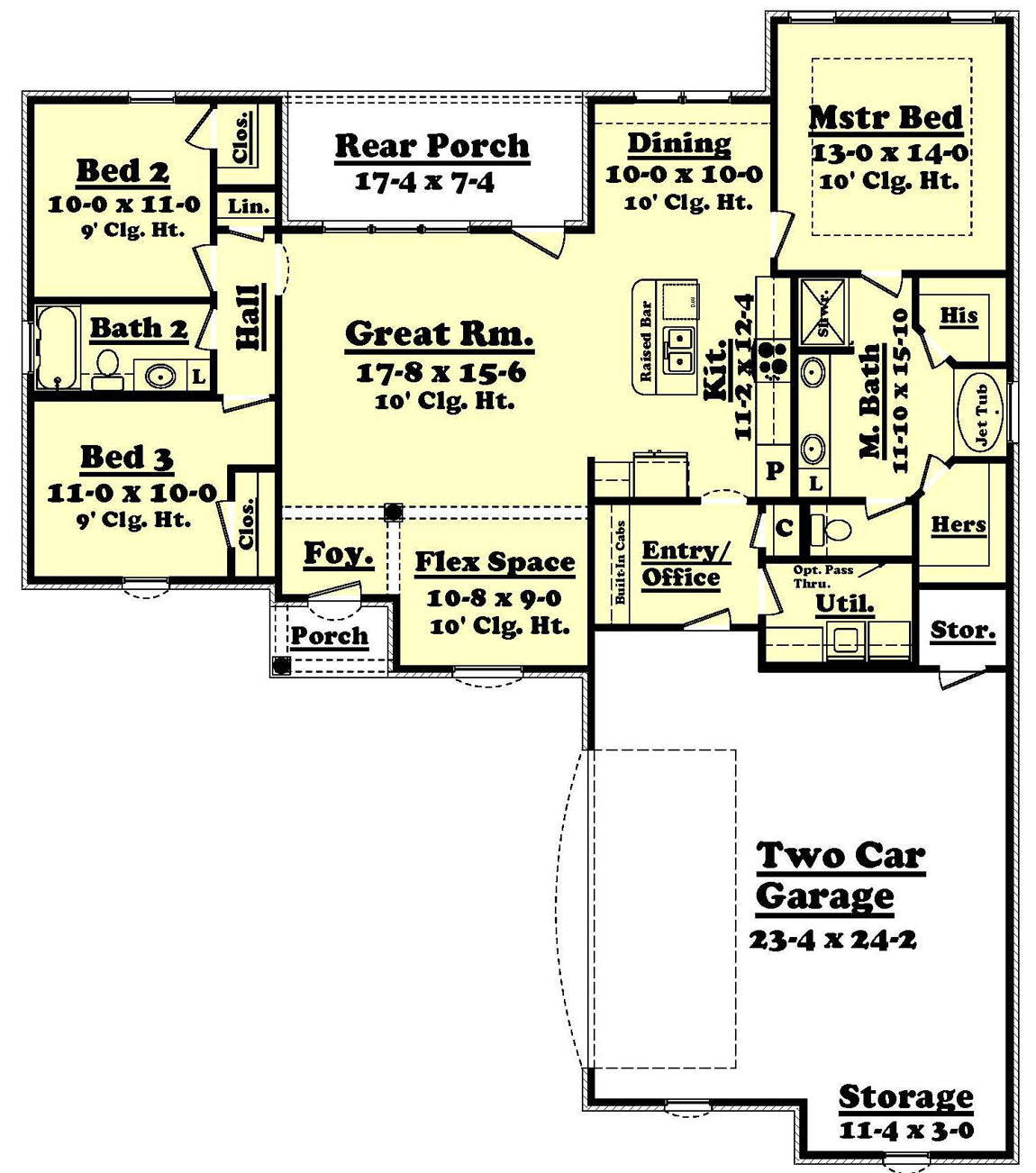 Bienville house plan house plan zone for 1600 sq ft house floor plans