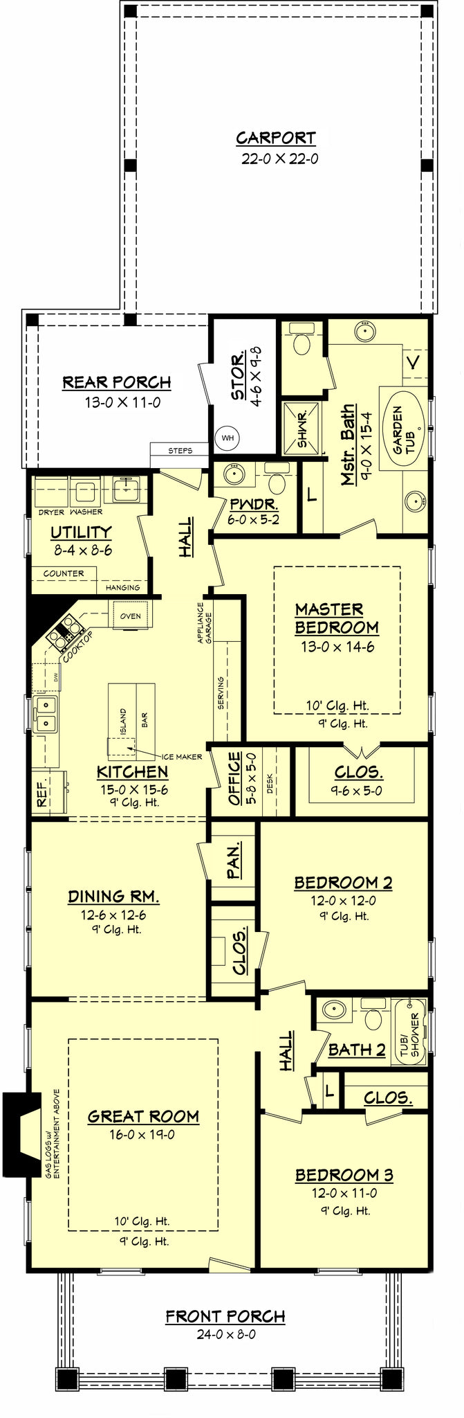 Old Decatur Craftsman House Plan House Plan Zone