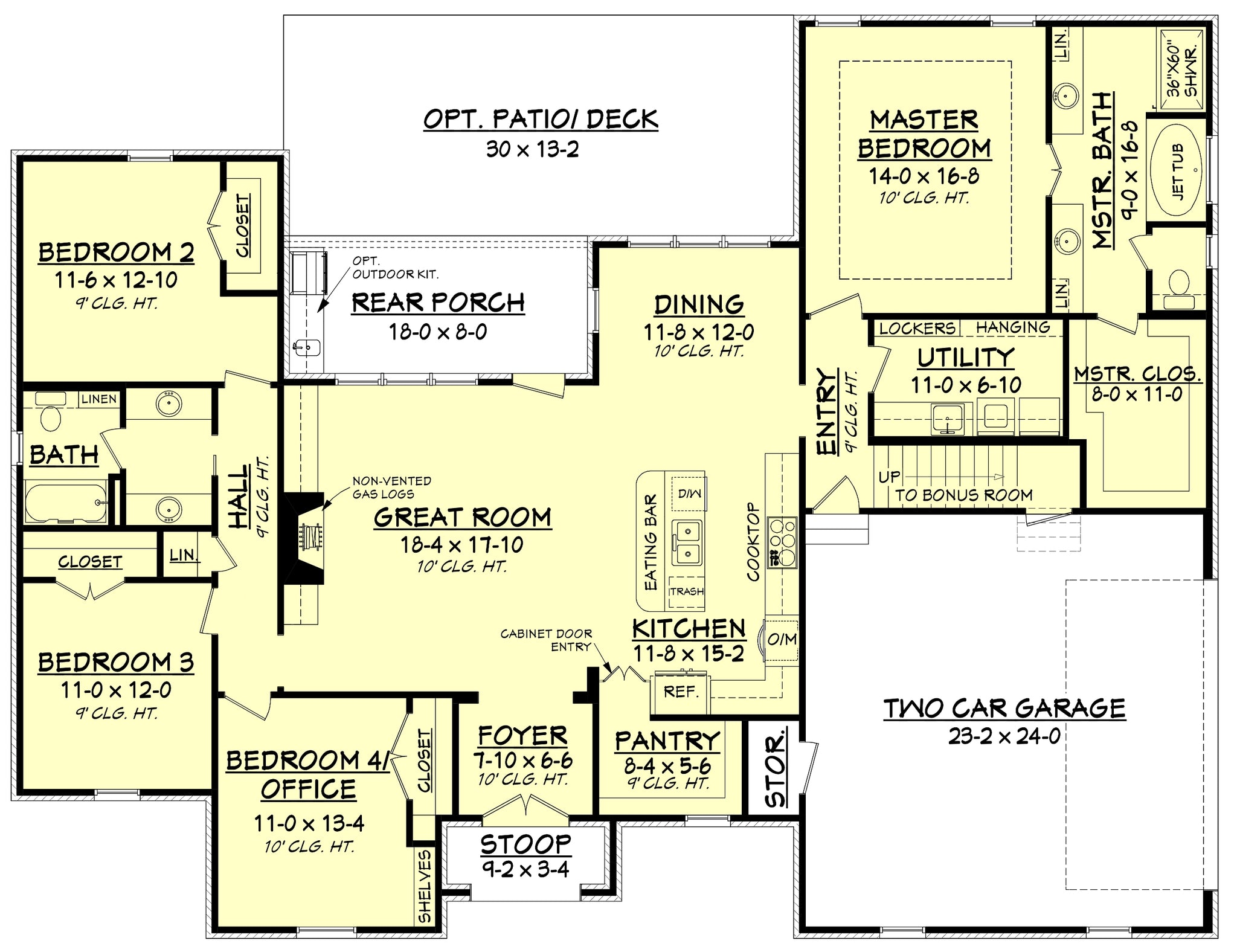 Refuge house plan house plan zone for Area of a floor plan