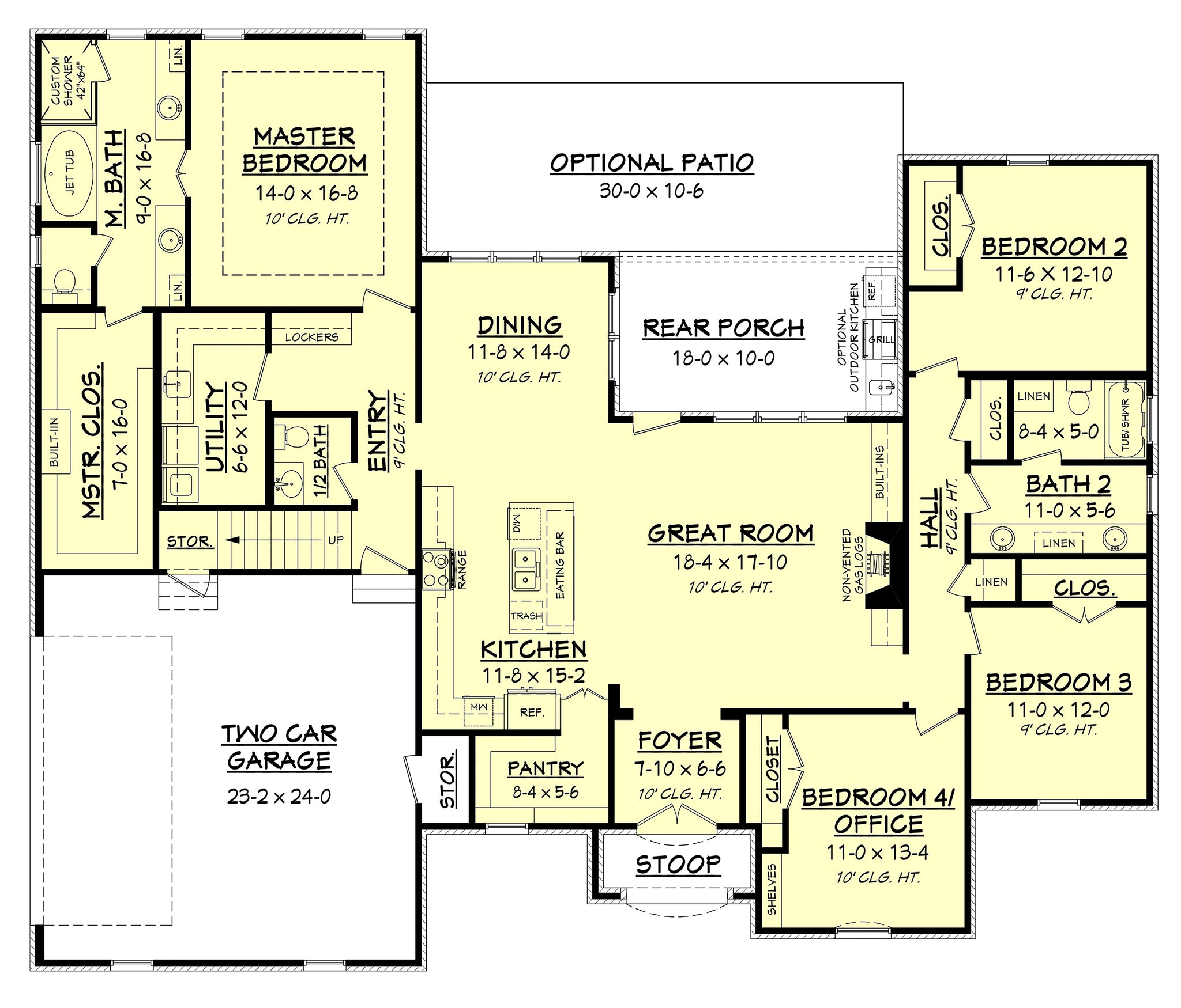 Cypress lake house plan house plan zone for Lake house floor plans